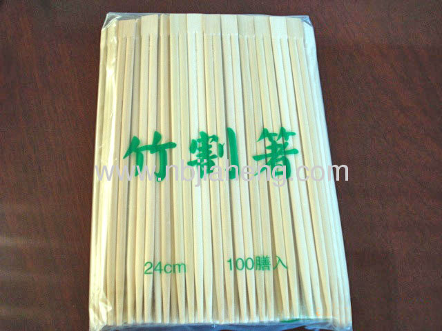 9 Inch Burnished Bamboo Chopstick Set with Holders 100 Pairs
