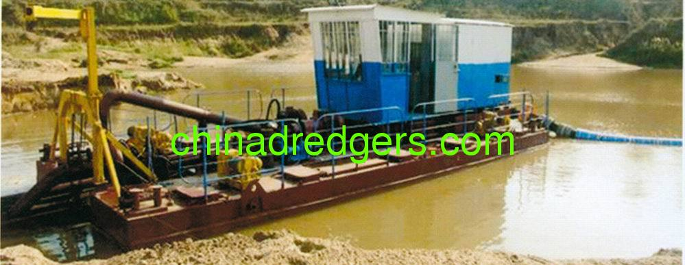 Cutter head suction dredging boat