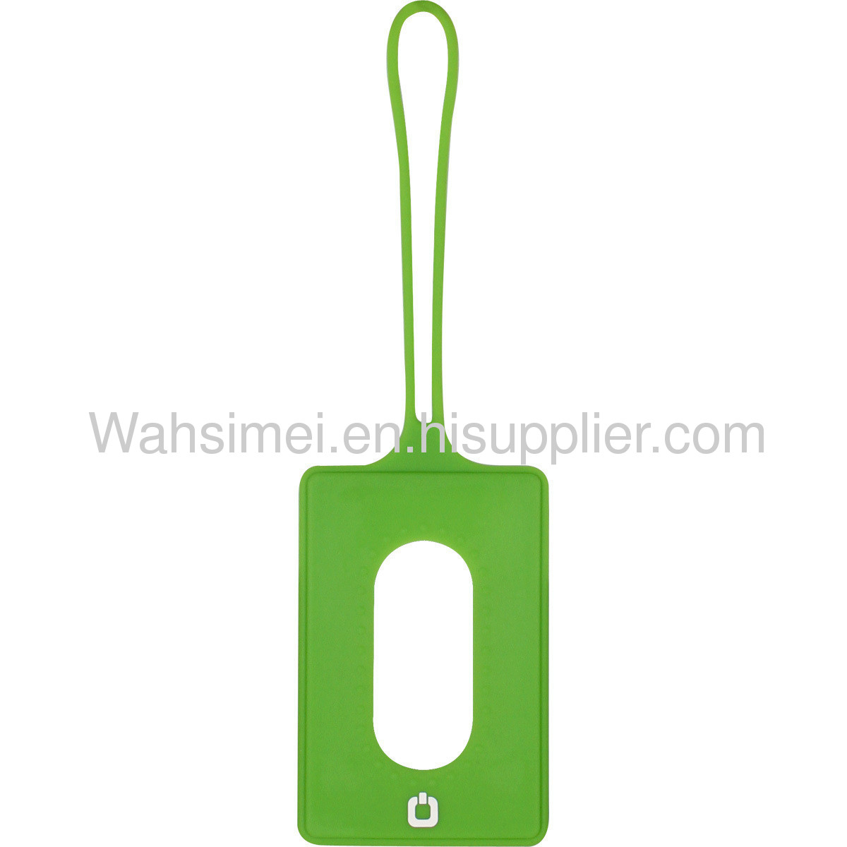 Soft silicon luggage tag with name card