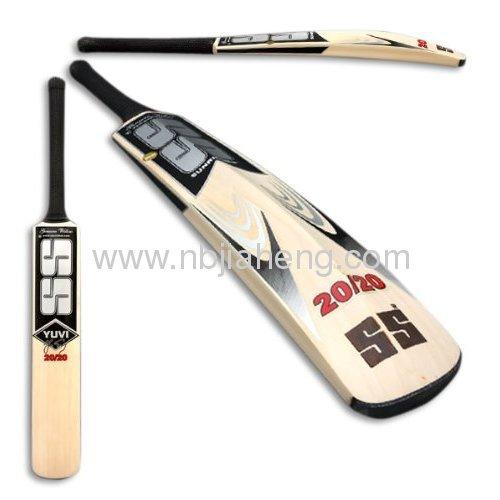 Geoffrey Retro Leather Chinese Poplar Cricket Bat stand