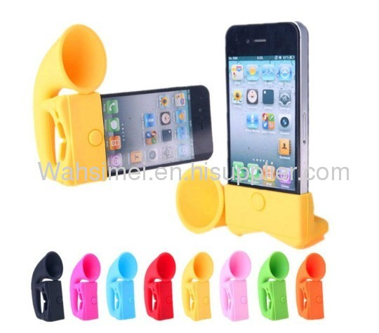 2012 new products silicone speaker for iphone