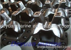 Cavel type cast steel dock bollard