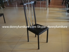 Metal PVC dining chair