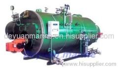 Marine horizontal oil-fired boiler