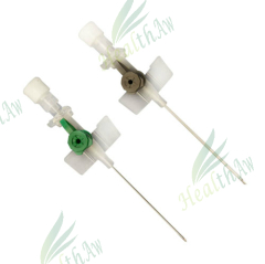 IV Cannula with injection port (with wings)