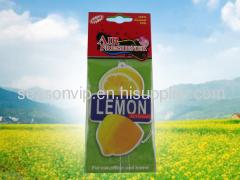 fruits hanging paper air freshener for car mirror