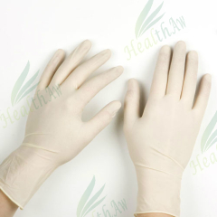 100% natural Latex Exam Gloves Latex glove