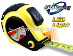retractable rubber injection measuring tape with LED Light