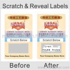 scratch off tamper evident labels