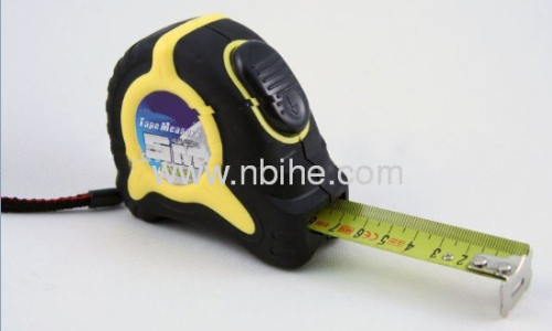 Rubber covered Automatic Self Lock Shock-resistant steel measuring tape