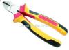 Tri-color soft grip handles Diagonal Cutting Combination Pliers