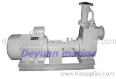 marine horizontal self-priming centrifugal oil pump