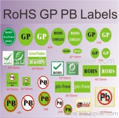 RoHS labels and pb free sticker