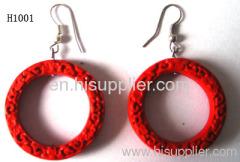 H1001 Red Colour Zinc Alloy Fashion Earrings
