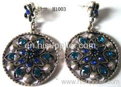 H1003 Handmade Circle Black Zinc Alloy Fashion Earrings