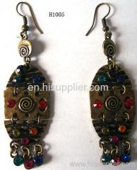 H1005 Charming Egyptian Fish Zinc Alloy Fashion Earrings