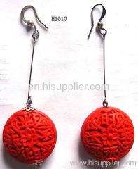 H1010 Red Droplight Like Zinc Alloy Fashion Earrings