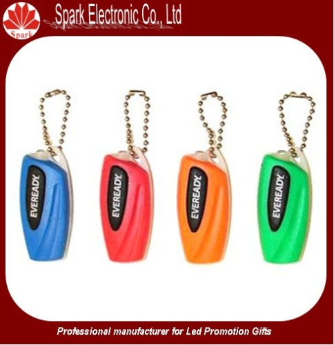 LED promotion plastic keychain
