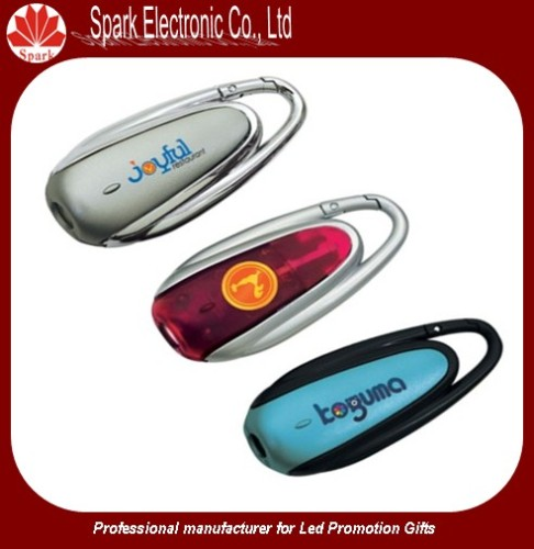 LED promotion plastic keychain