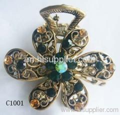 C1001 Flower Shape Zinc Alloy Decorative Hairpins