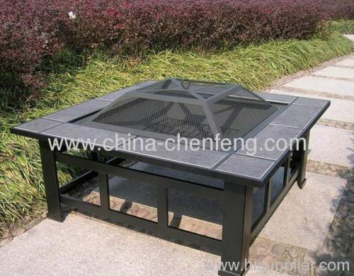 Outdoor Ceramic Tiles Fire Pit Tables