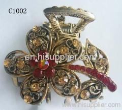 C1002 Flower Shape Zinc Alloy Decorative Hairpins