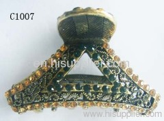 C1007 Newest Jewelry Unique Zinc Alloy Hair Claw With Rhines