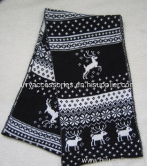 Acrylic jacquard knitted scarf