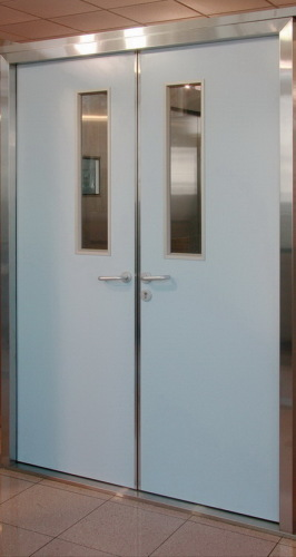 Double swing hospital doors from china manufacturer china golden door technology co ltd - Commercial double swing doors ...