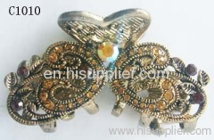 C1010 Newest Jewelry Unique Zinc Alloy Hair Claw With Rhines