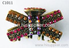 C1011 Butterfly Shape Zinc Alloy Decorative Hairpins