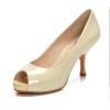 Ladies peep toe kitten heel dress shoes