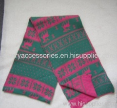acrylic jacquard winter scarf