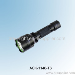 10W 500 lumens C8 CREE XML T6 LED bulb high power aluminum torch ACK-1140