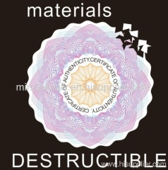 destructible vinyl sticker