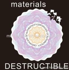 destructible vinyl sticker