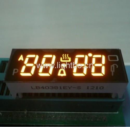 Vierstellige 0.38common Kathode super helle Bernsteinofen digitalen Timer zeigt