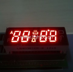 4 digits red oven display; custom led oven timer display;