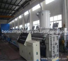 PE pipe plastic production line