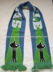 acrylic double layer football scarf