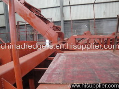 Chain bucket mud and sand dredger ship
