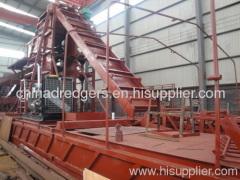 bucket chain gold dredging machine