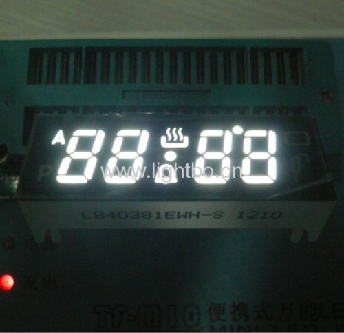 Custom design 4 digit 0.38common cathode pure white seven segment led numeric displays for oven control