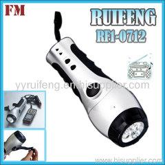 energy saving led radio light hand crank radio flashlight