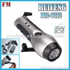newstyle radio light hand pressing 3led flashlight phone c