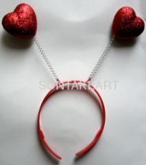 heart hair hoop