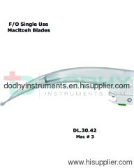 F/O Laryngoscope Blade # 3 = DODHY Instruments