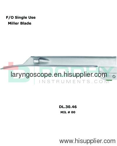 F/O Laryngoscope Miller Blade # 00 = DODHY Instruments