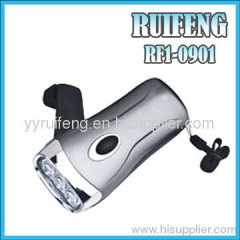highlight hand pressing led light hand crank torch