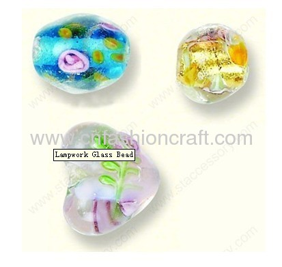 hot sale colorful lampwork glass bead